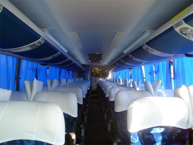 Poltronas do ônibus WEBCLASS da FRETBUS